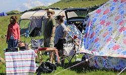 acampada familiar